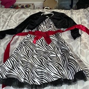 Zebra Print Dress with jacket